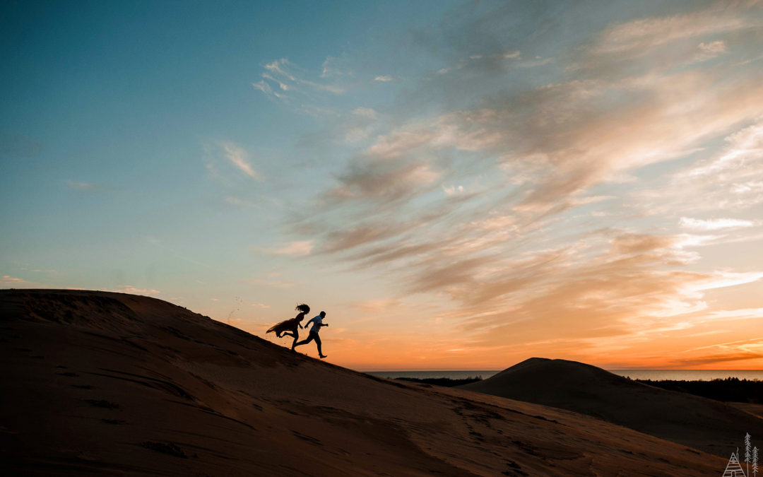 Nick + Andraya // Silver Lake Sand Dunes Engagement