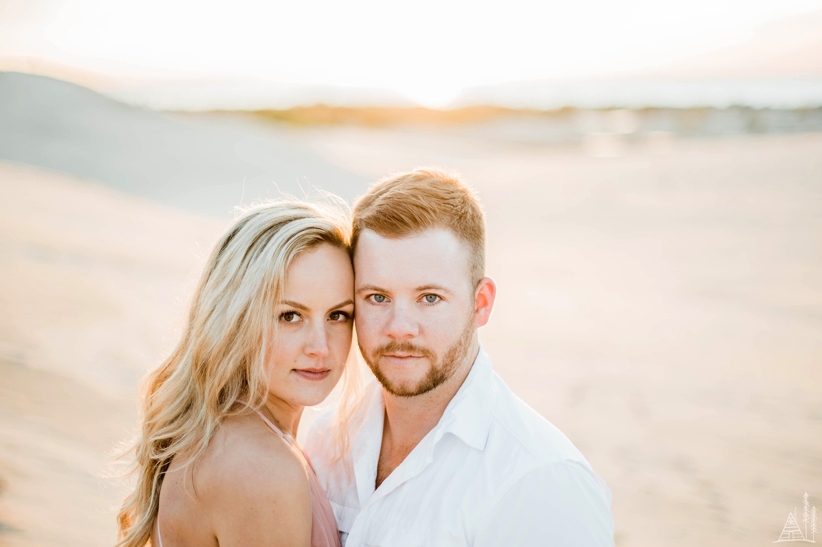 Silver Lake Sand Dune engagement - Kendra Stanley Mills Photography